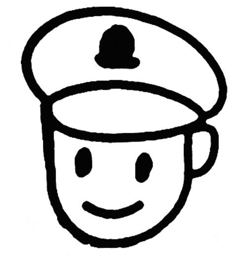 教你如何画警察 威严的警察简笔画教程图片
