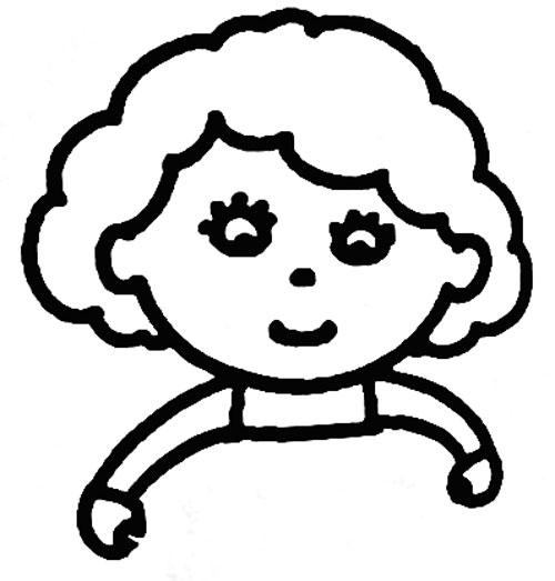 教你如何画妈妈 勤劳的妈妈简笔画教程